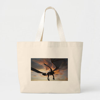 Soaring through the sky large tote bag