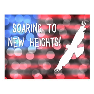 soaring to new heights postcard