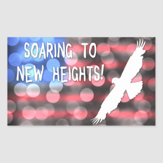 soaring to new heights rectangular sticker