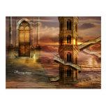 Soaring towers postcard
