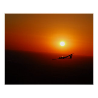 Soaring with a Texas Sunset Poster