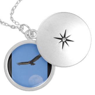Soaring with Luna Locket Necklace