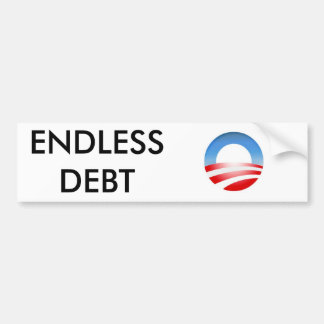 sob logo, ENDLESS DEBT Car Bumper Sticker