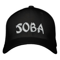 Soba そば  蕎麦 Japanese Noodle Embroidered Baseball Hat