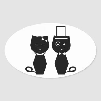 Soba-chan & Udon-kun Oval Sticker