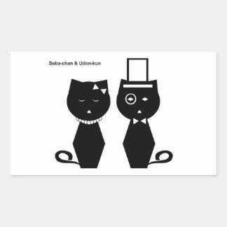 Soba-chan & Udon-kun Rectangular Sticker