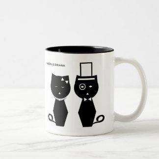 Soba-chan & Udon-kun Tea Cup Two-Tone Coffee Mug
