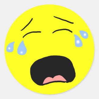 Sobbing Smiley Face Sticker