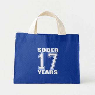 Sober 17 Years White on Dark Tote Bag
