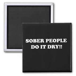 sober 2 inch square magnet