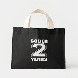 Sober 2 Years White on Dark Bag