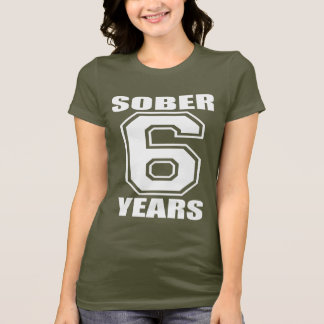 Sober 6 Years White on Dark T-Shirt
