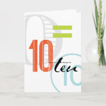 Sober Alcoholic Anniversary Card: 10 Years Card
