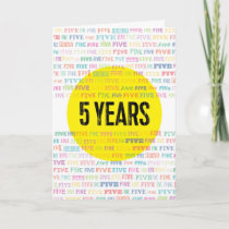 Sober Alcoholic Anniversary Card: 5 Years Card