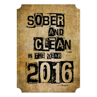 Sober and Clean 2016 (12 step drug & alcohol free) Card