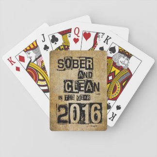 Sober and Clean 2016 (12 step drug & alcohol free) Playing Cards