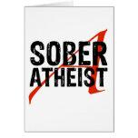 Sober Atheist Cards