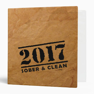 Sober & Clean 2017 (recovery gifts/addiction free) Binder