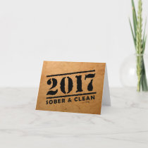 Sober & Clean 2017 (recovery gifts/addiction free) Card