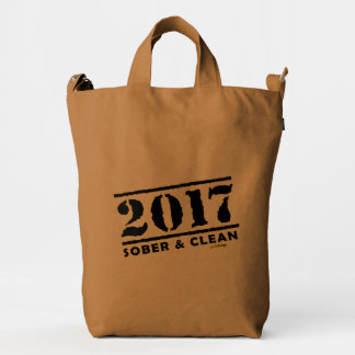 Sober & Clean 2017 (recovery gifts/addiction free) Duck Bag