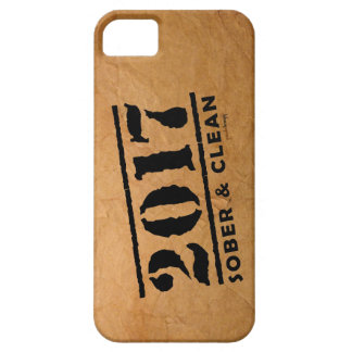 Sober & Clean 2017 (recovery gifts/addiction free) iPhone SE/5/5s Case