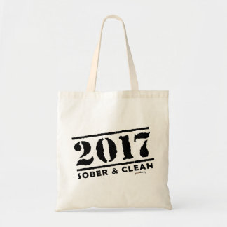 Sober & Clean 2017 (recovery gifts/addiction free) Tote Bag
