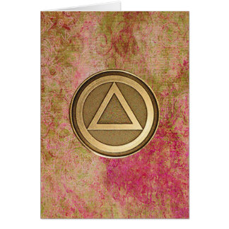 SOBER COIN Sobriety Recovery AA Card