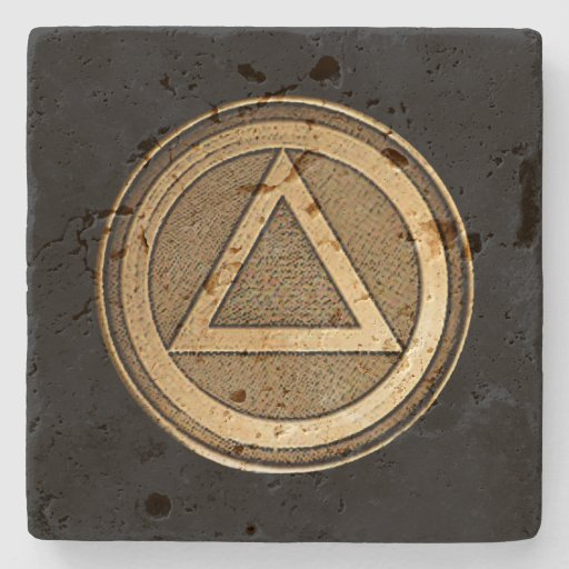 SOBER COIN STONE Coaster Recovery Sobriety AA