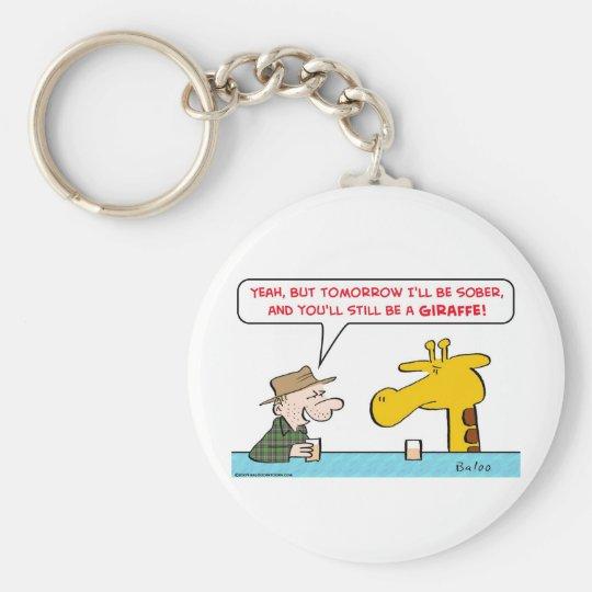 sober giraffe keychain