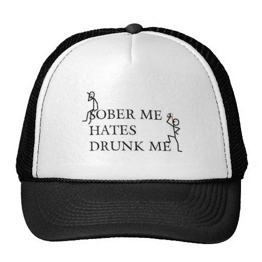 SOBER ME HATES DRUNK ME MESH HAT