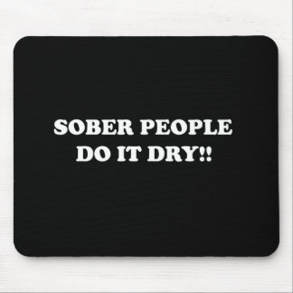 sober mouse pad