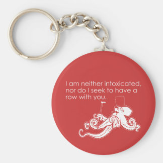 Sober Octopus Does Not Want to Fight You Keychain