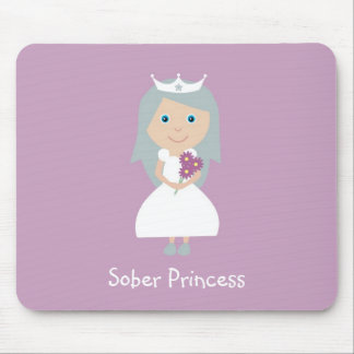 Sober Princess mouse mat