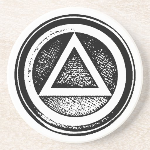 Sober Sandstone Coasters for Recovery Sobriety AA