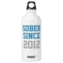 Sober Since Year Aluminum Water Bottle