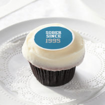 Sober Since Year Edible Frosting Rounds