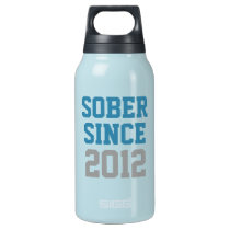 Sober Since Year Insulated Water Bottle