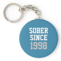 Sober Since Year Keychain