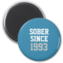 Sober Since Year Magnet