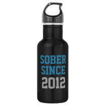 Sober Since Year Stainless Steel Water Bottle