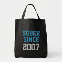 Sober Since Year Tote Bag