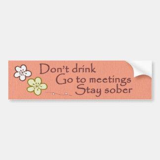Sober Sobriety Recovery Bumper Sticker
