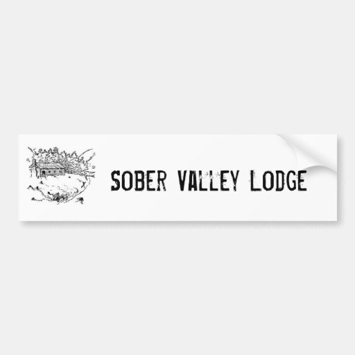 Sober Valley Lodge Bumper Sticker