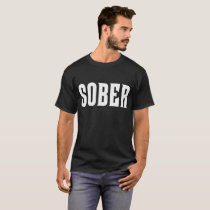 SOBER White Ink T-Shirt