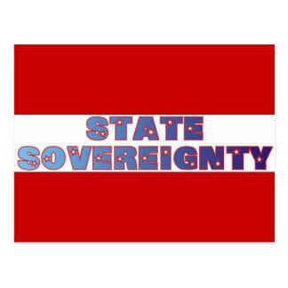 Soberanía del estado tarjeta postal