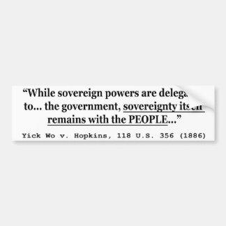 Soberanía Yick Wo v Hopkins los 118 E.E.U.U. 356 ( Pegatina Para Auto