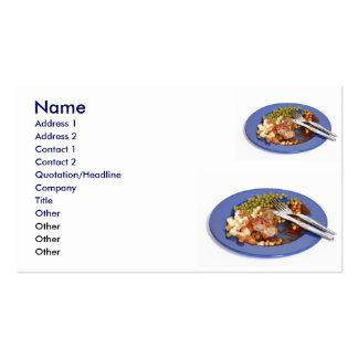 Sobras de la comida tarjetas de visita