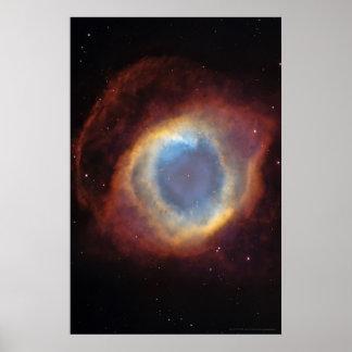 Sobre 20x30 (18x27) de la nebulosa de la hélice póster