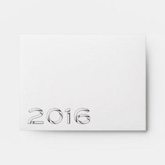 Sobre 5 de la Feliz Año Nuevo 2016 - números del