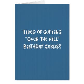 """""""Sobre 60.a tarjeta de cumpleaños divertida de la"""